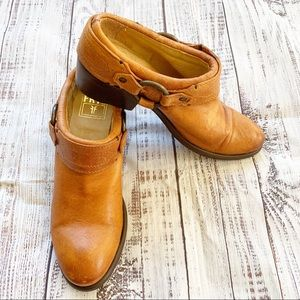 Frye Classic Carson Leather Harness Clogs